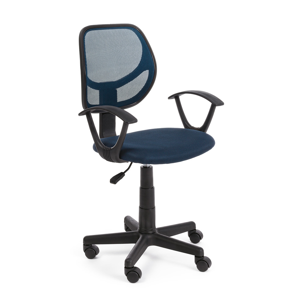 07fa6c5390 Este - Sedia operativa da ufficio, schienale in rete, con braccioli ...