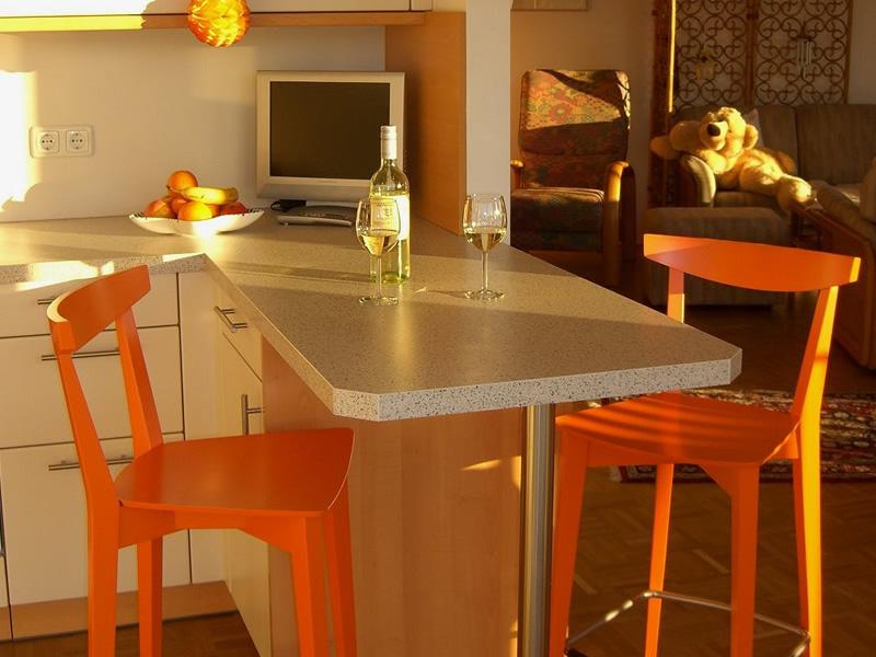 Arancione un colore allegro per una cucina viva gertraude da