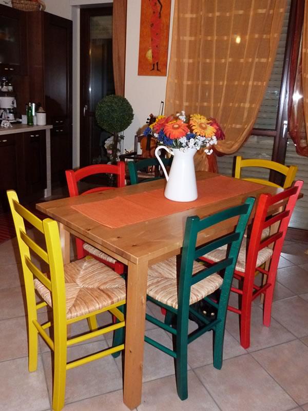 Sedie rustiche colorate - Sediarreda