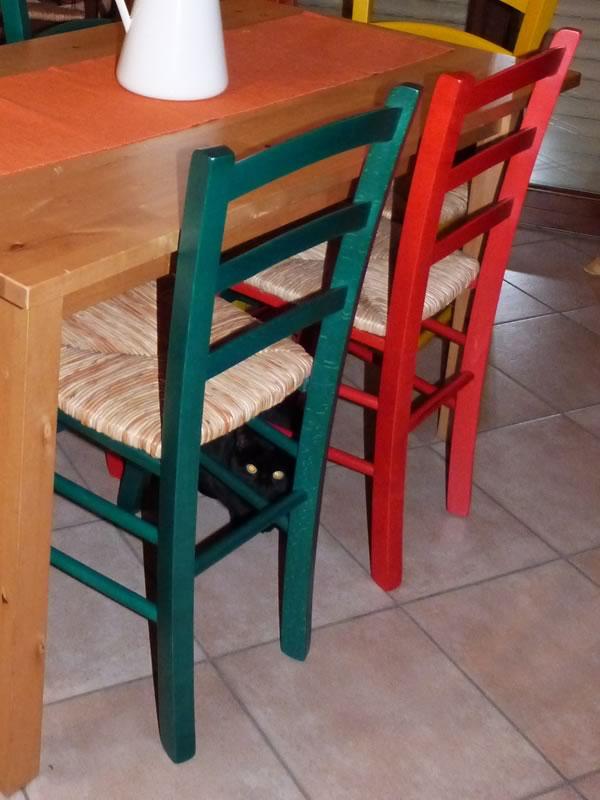 referenze sedie rustiche colorate sediarreda