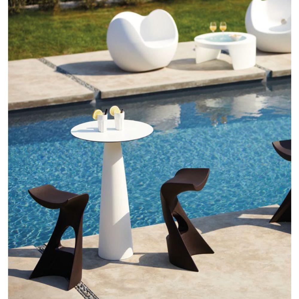 koncord pour bars et restaurants petite table tabouret ou pouf de bar en poly thyl ne. Black Bedroom Furniture Sets. Home Design Ideas