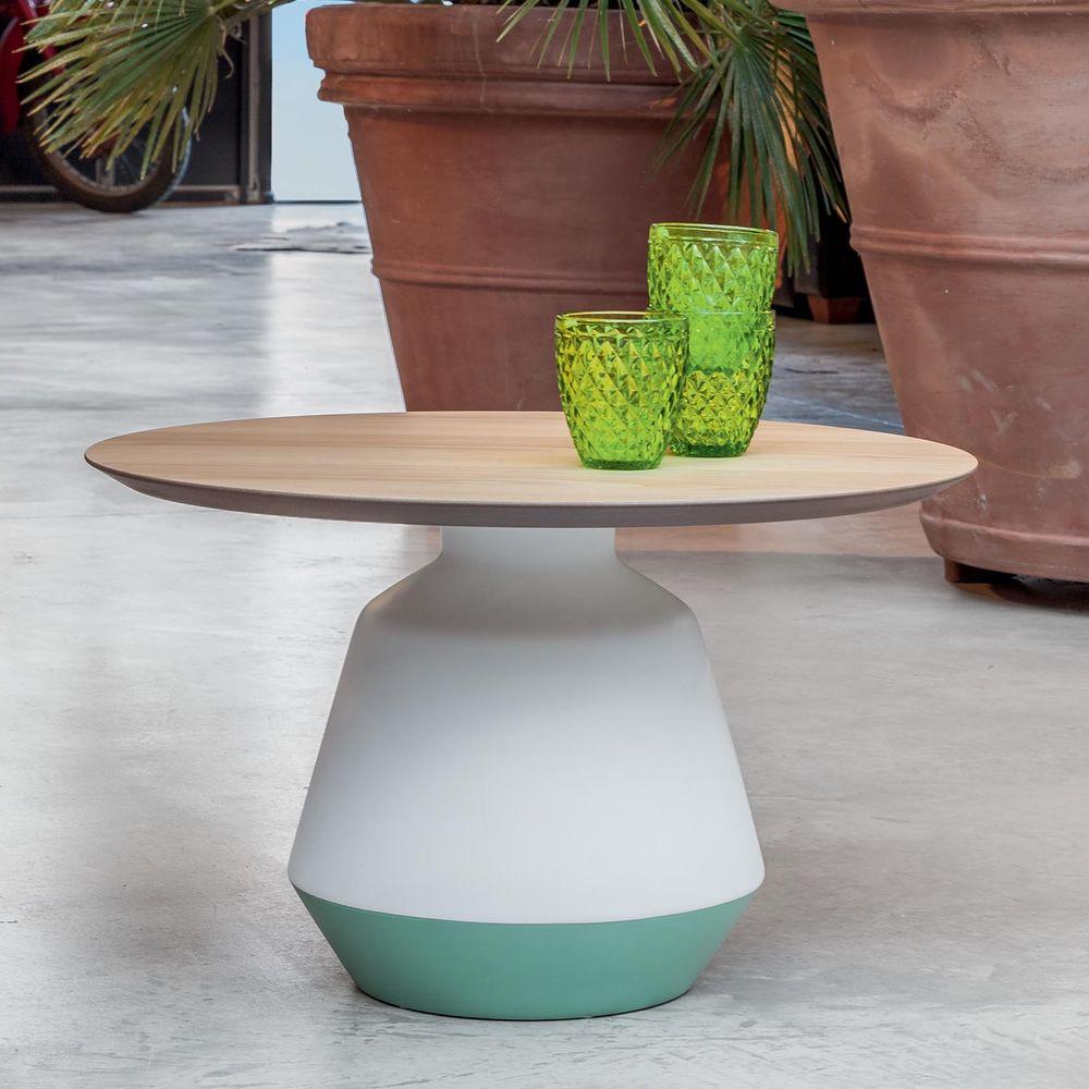 amira 6273 niedriger beistelltisch tonin casa aus holz und keramik durchmesser 61 cm sediarreda. Black Bedroom Furniture Sets. Home Design Ideas