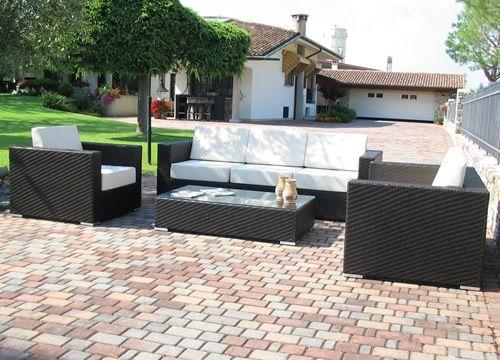 Kit esterno 11 pour bars et restaurants ensemble de jardin pour bar en aluminium et - Salon de jardin imitation rotin noir ...