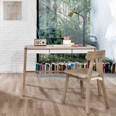 Verso - Universo Positivo wooden desk with metal drawers