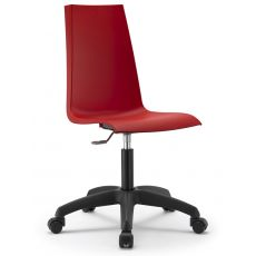 Mannequin R 2663 - Home office armchair, swivel and adjustable, nylon structure and technopolymer seat, available in several colours