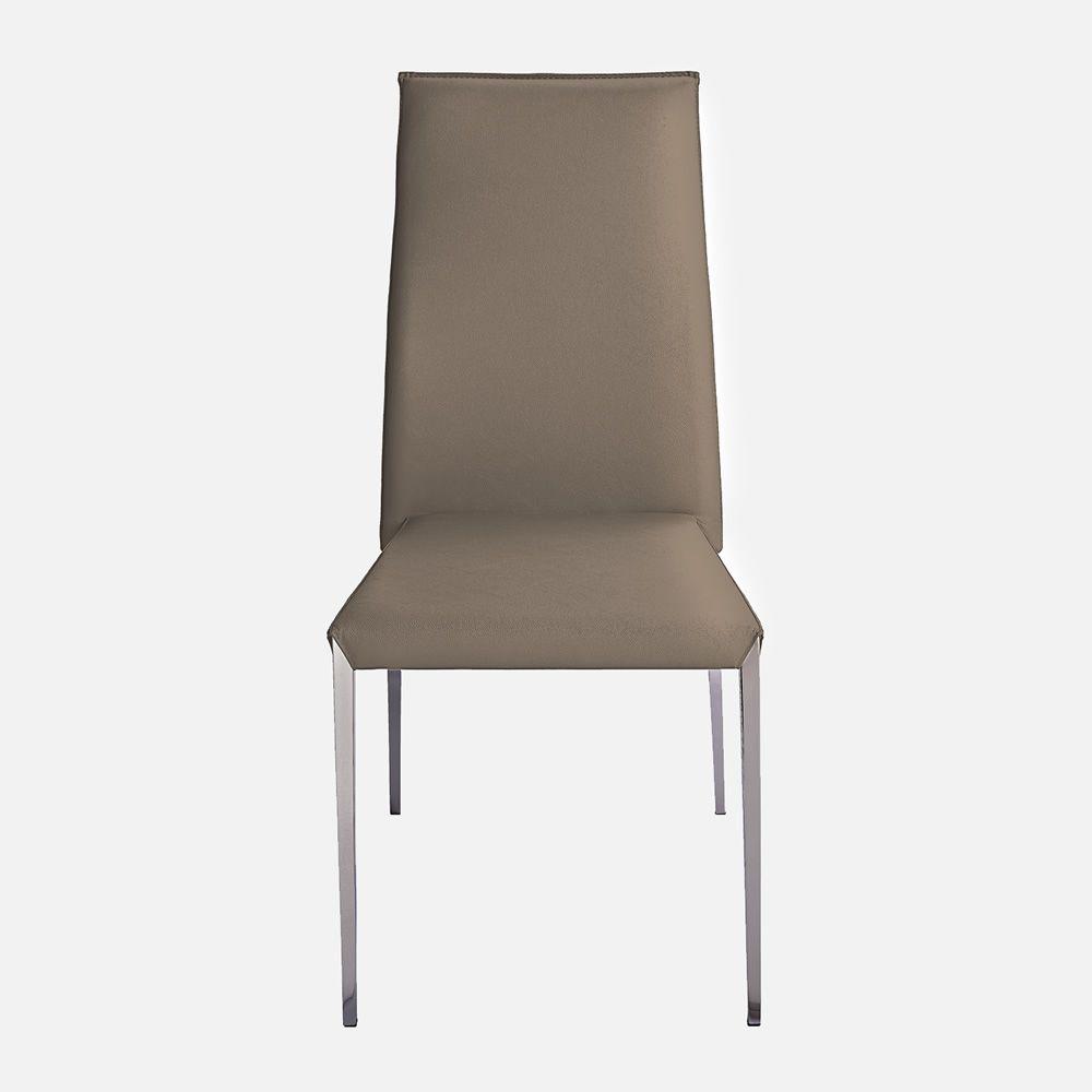 vr52 chaise empilable en m tal assise rev tue en simili cuir sediarreda. Black Bedroom Furniture Sets. Home Design Ideas