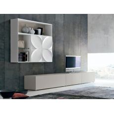 Leaves G - Tonin Casa living room furniture made of lacquered MDF, different colours available