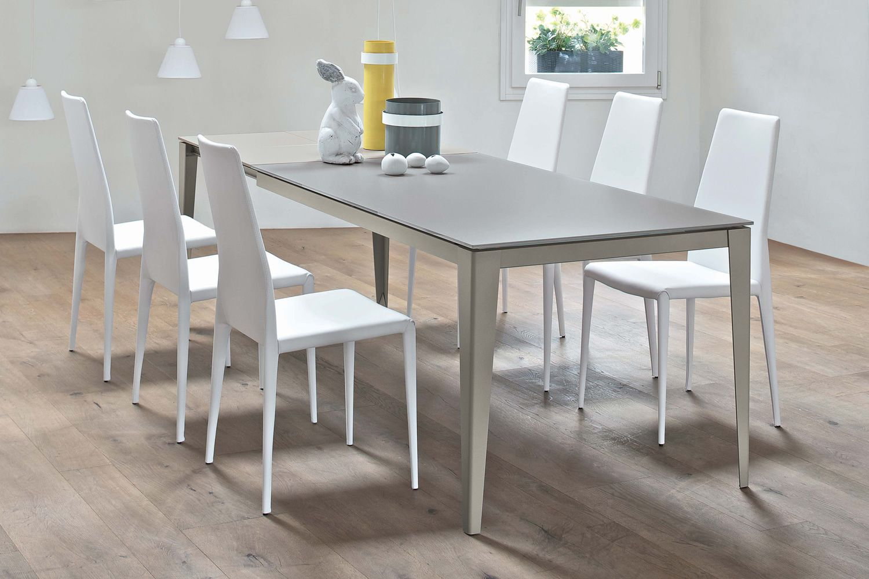 Bianco Denver Salle De Bain ~ denver 42 64 table extensible 140 x 90 cm en m tal avec plateau