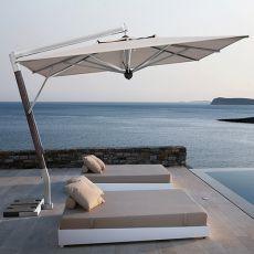 OMB25 - Parasol de jardin à bras latéral, en aluminium, disponible en différentes dimensions et formes