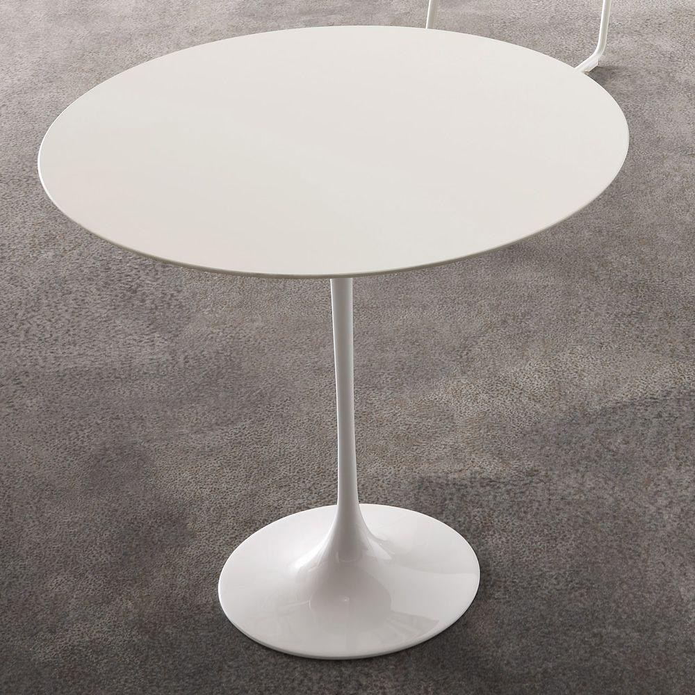 saturnino designer couchtisch mit beinen aus aluminium und tischplatte aus laminat rund 50 cm. Black Bedroom Furniture Sets. Home Design Ideas