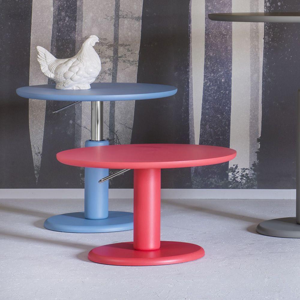 Maciste tavolo tondo miniforms in mdf piano fisso o allungabile regolabile in altezza - Tavolo regolabile in altezza ...