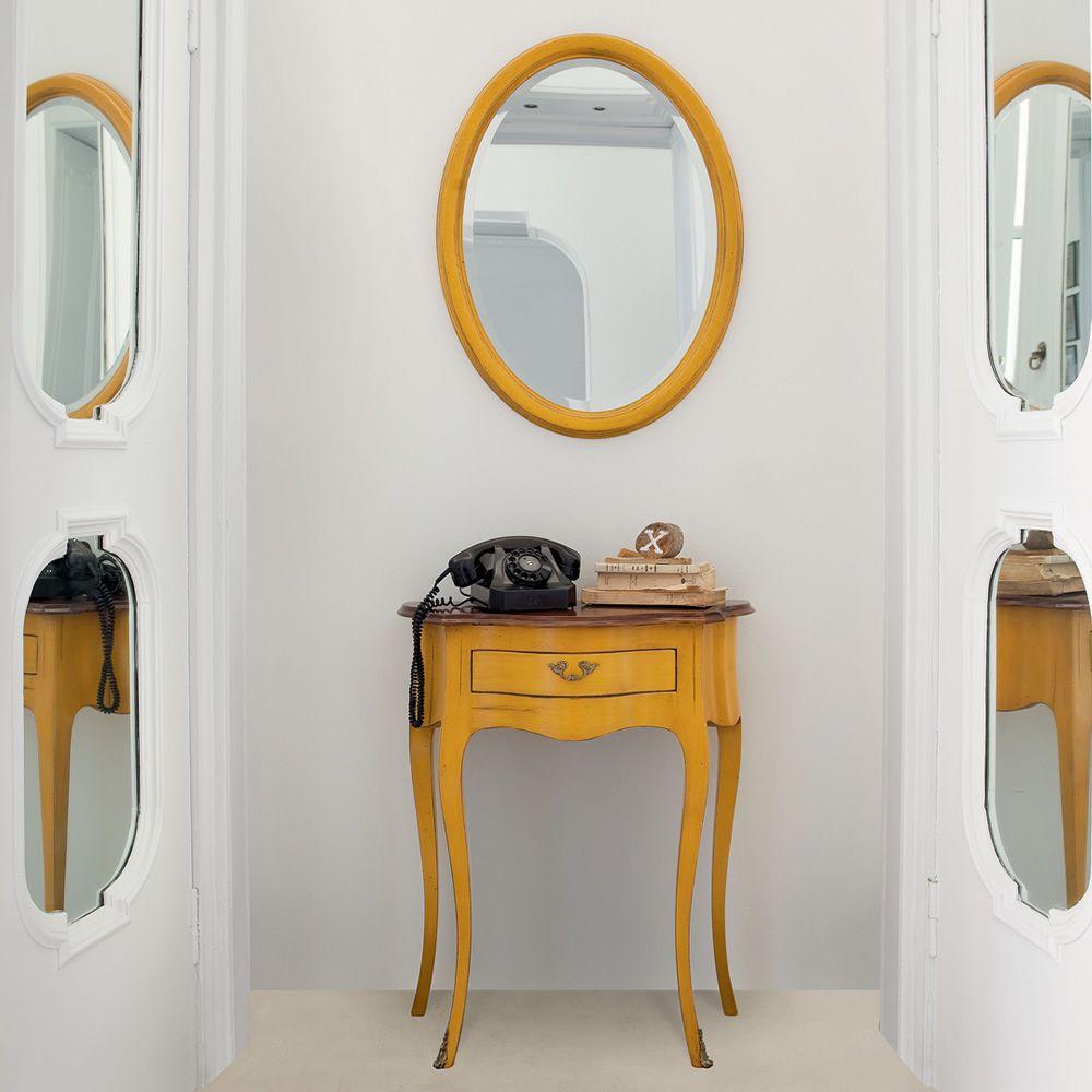 Azimut 4963 espejo valo tonin casa con marco cl sico de for Espejo madera envejecida