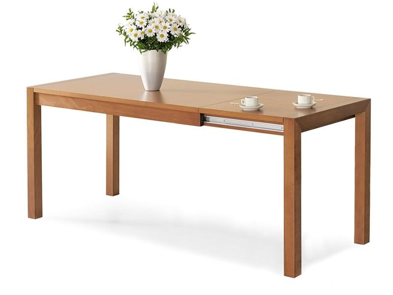 POT09 - Tavolo in legno di faggio o rovere, 140x80 cm allungabile ...