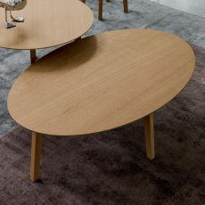 Zoe-B - Tavolino Dall'Agnese in legno, diverse finiture disponibili