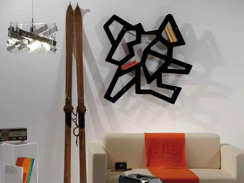 Macramè - Libreria da parete modulare in metacrilato, diversi colori disponib...