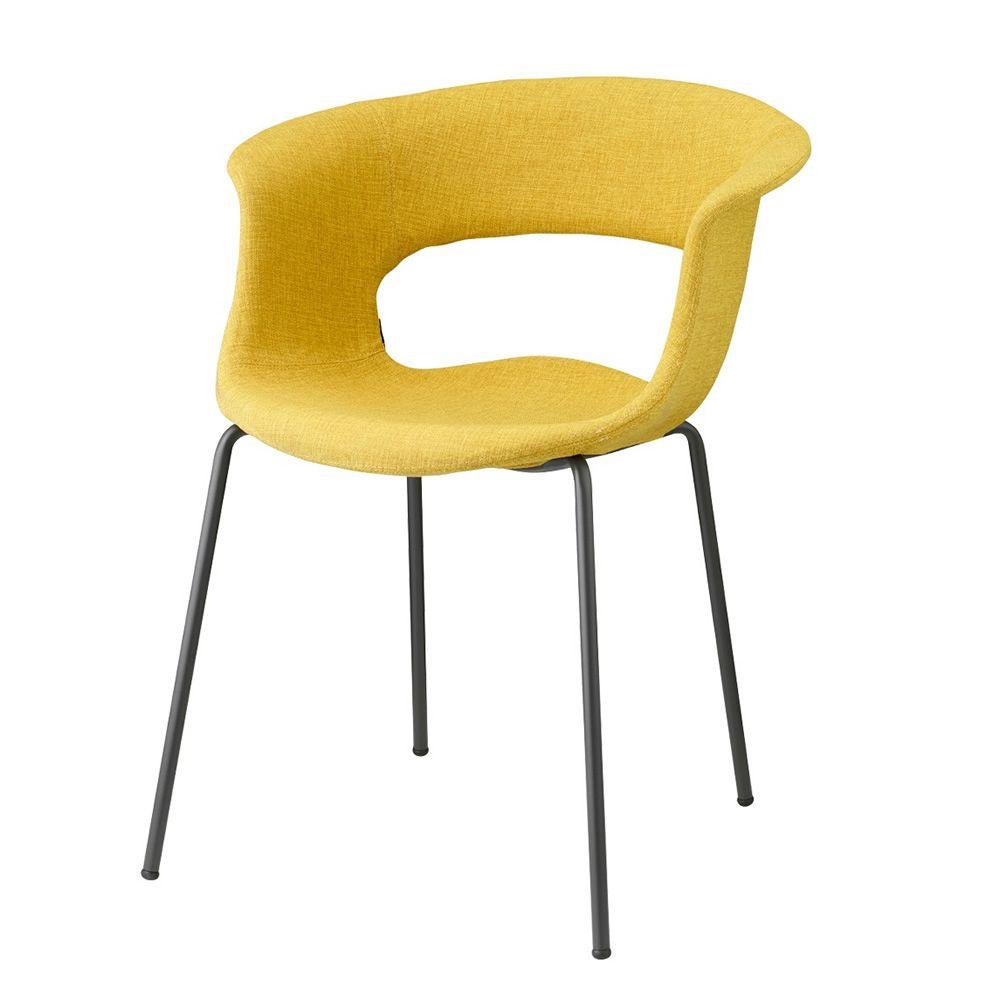 Miss b pop 2686 sedia in metallo con rivestimento in for Sedia wrap