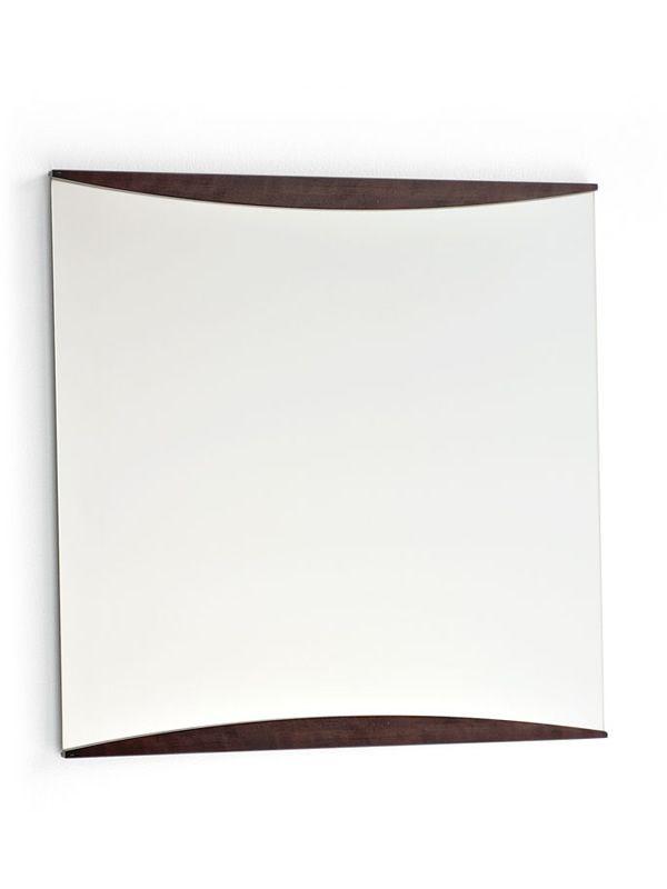 Cs487 mard miroir moderne calligaris carr 70x70 cm for Miroir carre bois