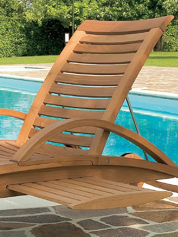 Mirage l bain de soleil en bois de robinier dossier for Table extractible