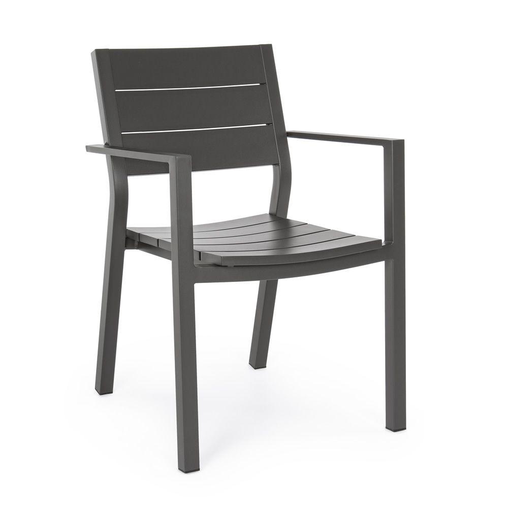 rodi chaise en aluminium avec accoudoirs empilable avec couccin pour le jardin sediarreda. Black Bedroom Furniture Sets. Home Design Ideas