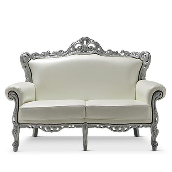 barokko l klassisches sofa domingo salotti 2 sitzer mit verschiedenen bez gen und in. Black Bedroom Furniture Sets. Home Design Ideas