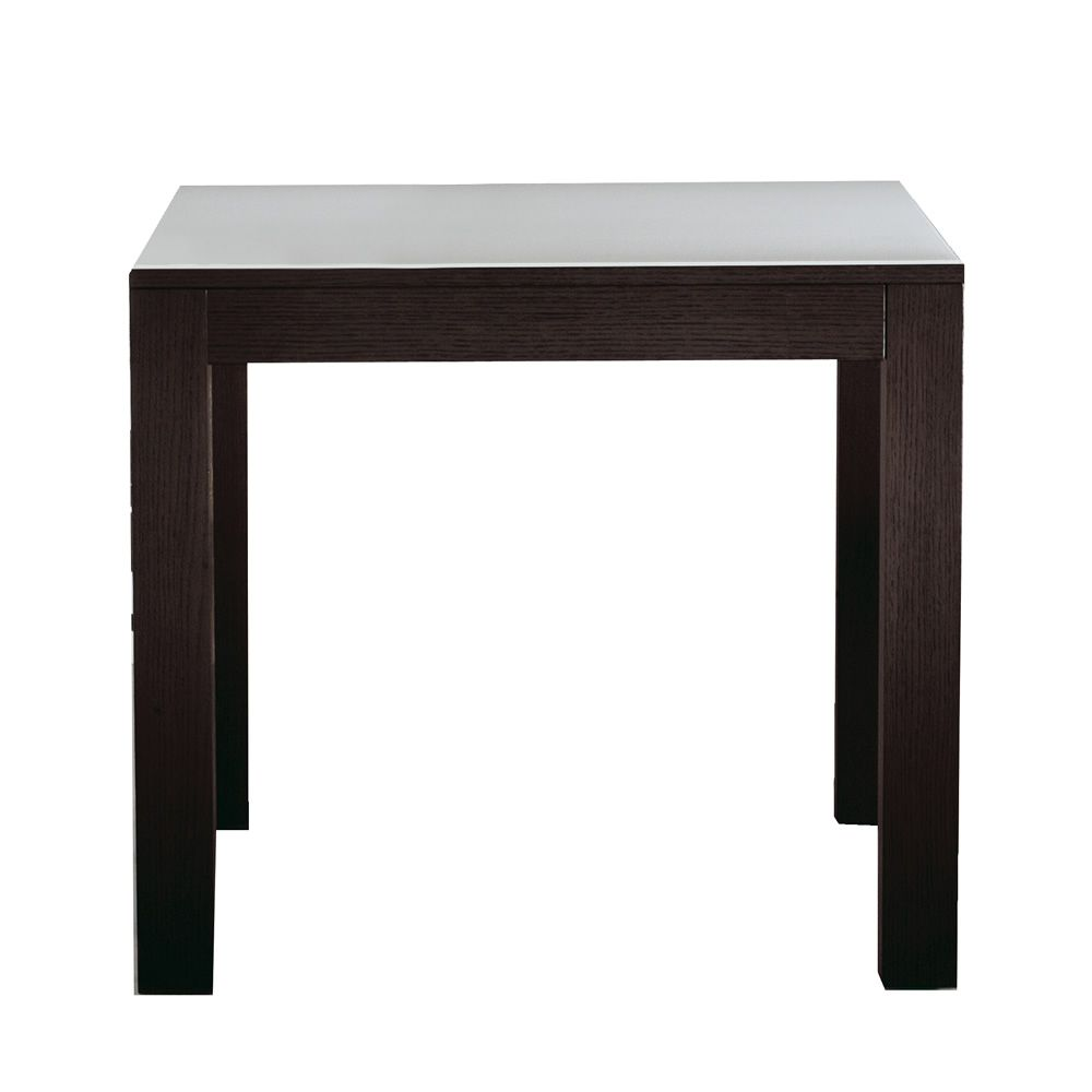 Kubo extendable table colico design in wood with glass for Table bar 85 cm
