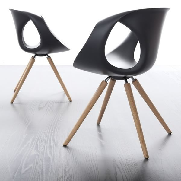 Up Chair W - Modern chair with wooden structure and polyrethane seat by Tonon  sc 1 st  Sediarreda & Up Chair W: Design chair by Tonon made of wood and polyurethane ...