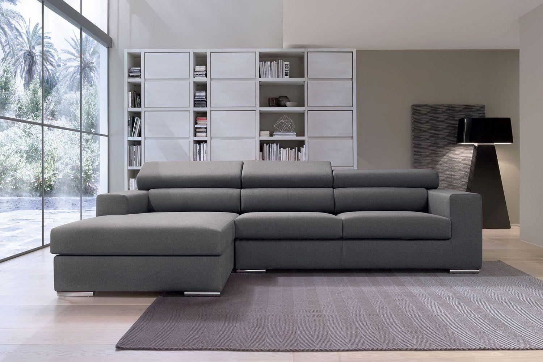 Gala p divano con penisola reversibile e poggiatesta for Divano con penisola misure