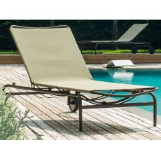 Playa - Emu sun lounger made of metal, reclining backrest, stackable