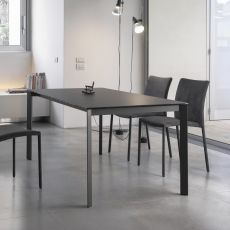 Dublino - Design table Bontempi Casa, 160 x 90 cm extendable, in metal with top in different materials, available in several colours