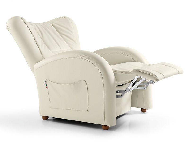 Mizar poltrona massaggiante elettrica in tessuto ecopelle o