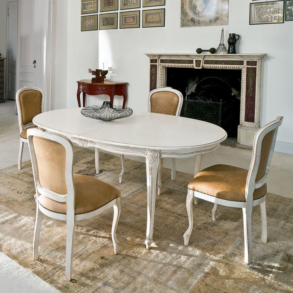 1127 Dorado Table classique en bois de Tonin Casa, différentes couleurs, 110