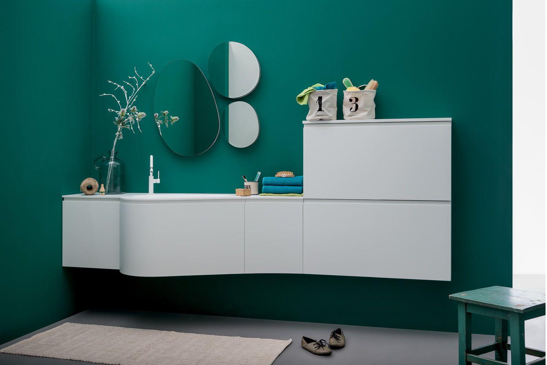 Versa b meuble de salle de bain avec plan et vasque for Modele de porte de salle de bain