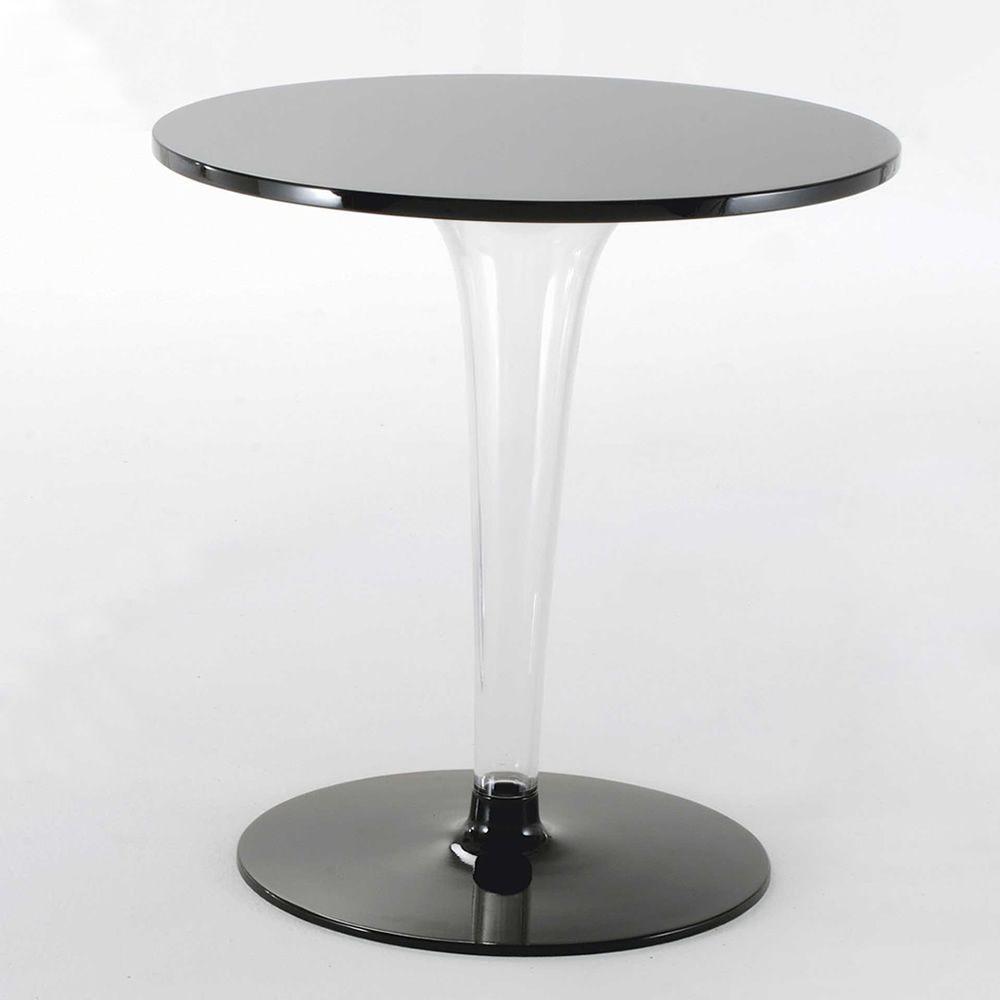 Toptop round tavolino kartell di design in plastica con for Tavolo kartell rotondo