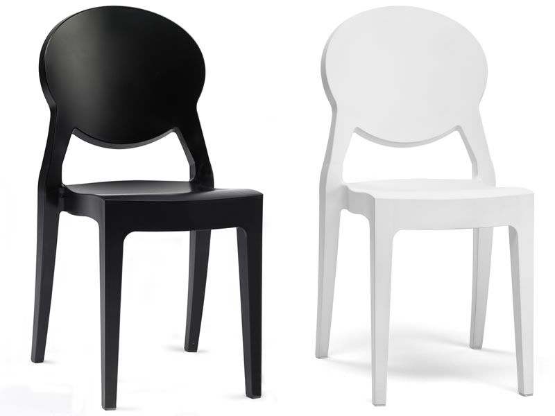 ... Igloo Chair 2357   Polycarbonate Chair In White And Black Full Colour  ...