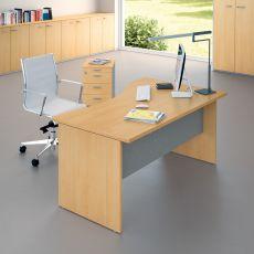 Idea Panel 03 - Scrivania per ufficio, in laminato e metallo, disponibile in diverse dimensioni e finiture