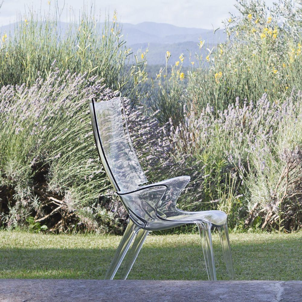 Uncle jim fauteuil kartell design en polycarbonate en diff rentes couleurs - Fauteuil polycarbonate transparent ...