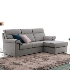 Devis P - 3 seater sofa with chaise longue, totally removable covering, different upholsteries and colors available