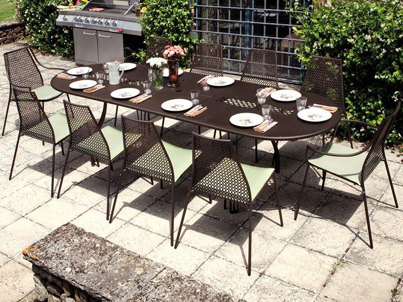 Vera o tavolo emu in metallo piano ovale allungabile - Emu tavoli da giardino ...