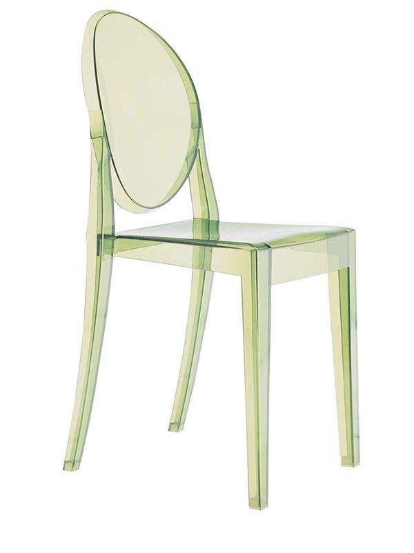 victoria ghost sedia kartell di design in policarbonato trasparente o colorato impilabile On sedia victoria ghost kartell