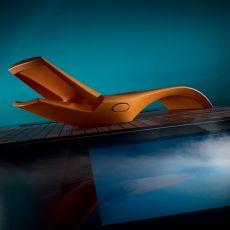 Zoe - Sonnenliege aus Technopolymer, in verschiedenen Farben verfügbar, verstellbare Rückenlehne