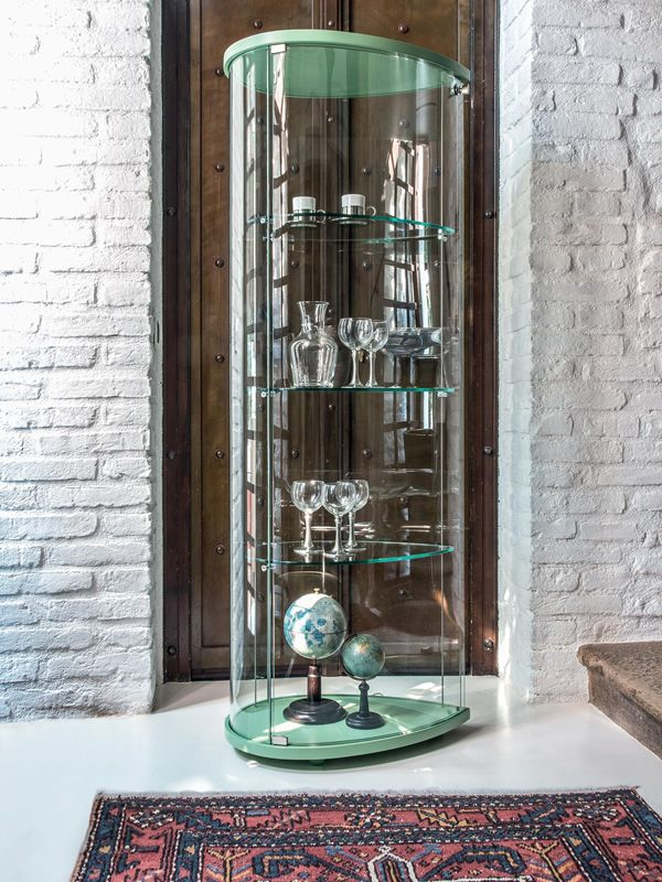 olivella 6427 vitrine tonin casa aus holz und glas in verschiedenen farben verf gbar mit led. Black Bedroom Furniture Sets. Home Design Ideas
