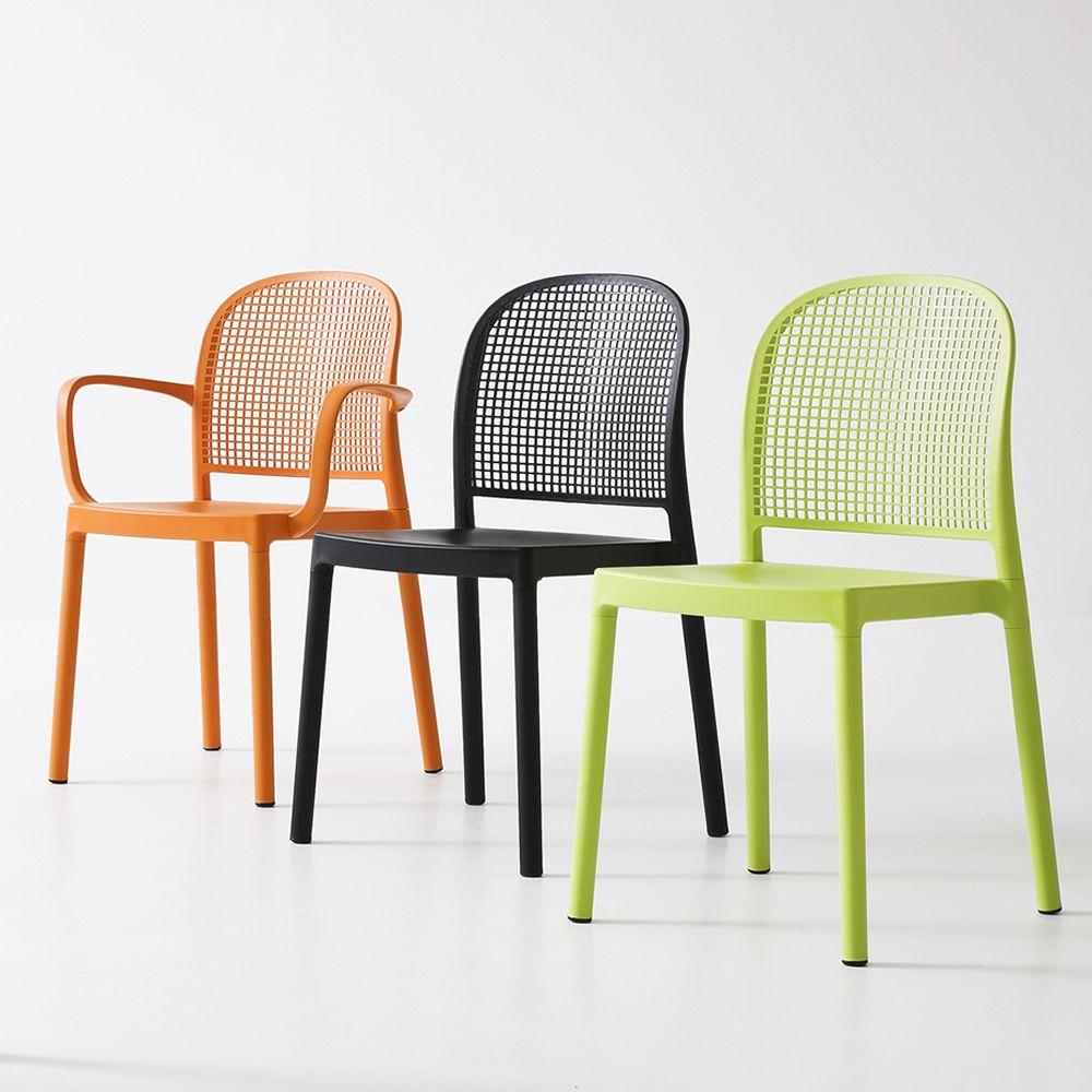Panama silla moderna de pol mero con y sin reposabrazos for Sillas tapizadas con reposabrazos