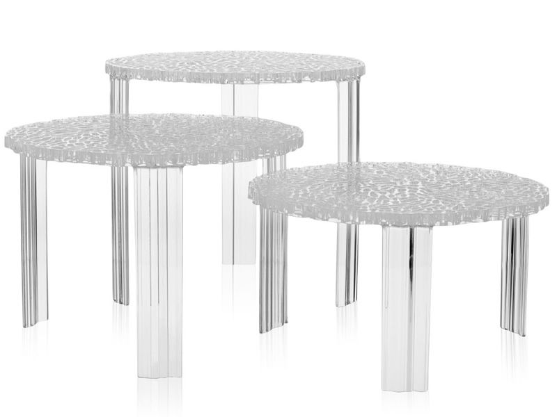 T-Table - Designer Couchtisch Kartell, aus Polymethylmetacrylat, in ...