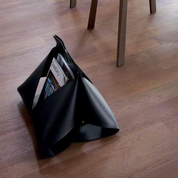 Zeitungsständer Schwarz Holz ~ Handy Zeitungsständer Domitalia aus Lederfaserstoff, in verschidenen