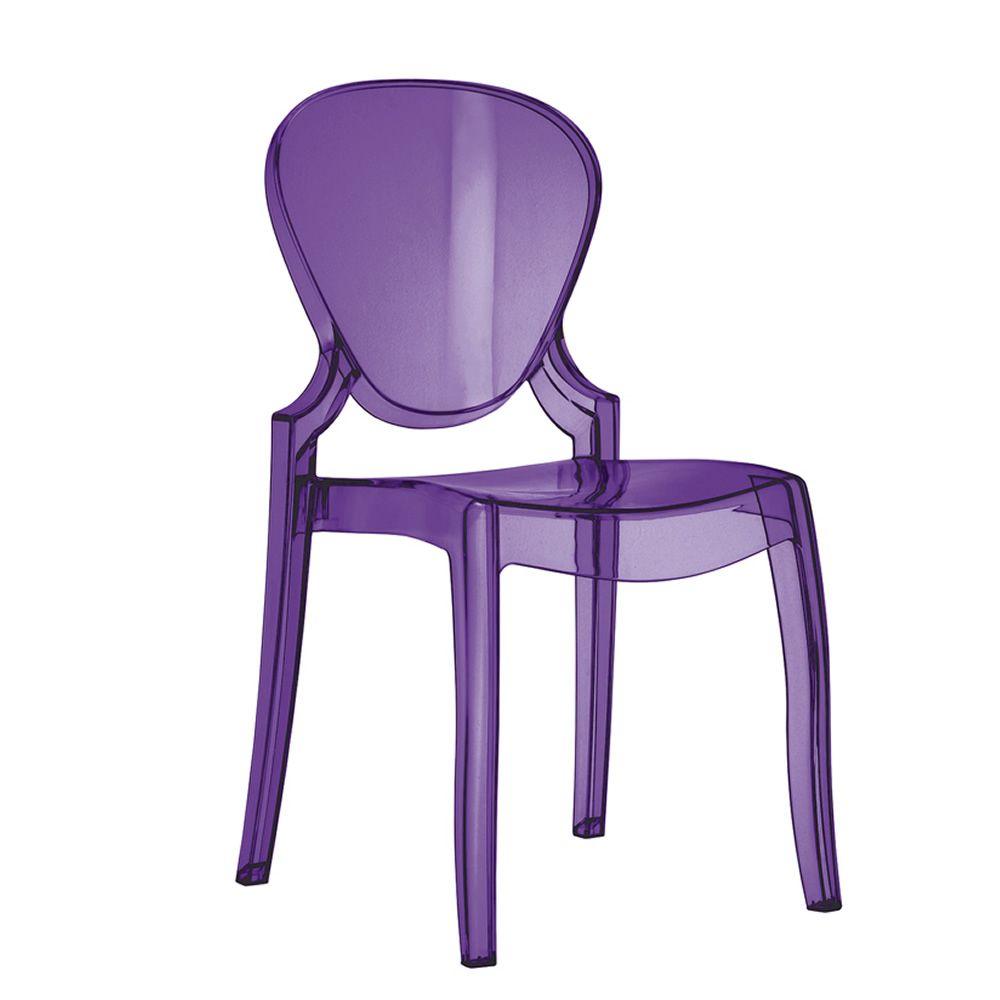 Queen 650 sedia pedrali di design in policarbonato - Cuscino per sedia viola ...