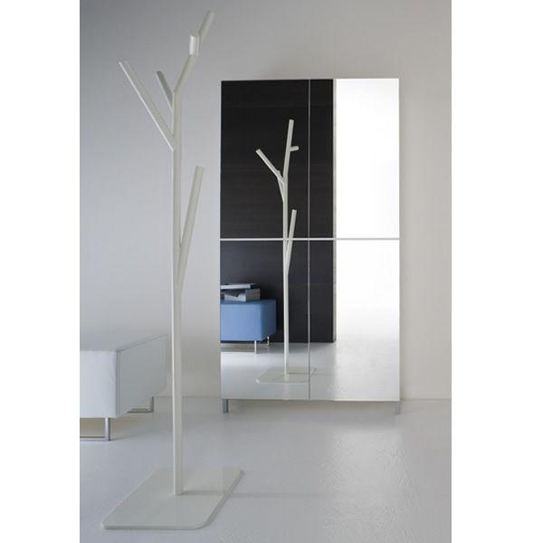 Linear m mueble de entrada zapatero con puertas espejos for Mueble zapatero con espejo
