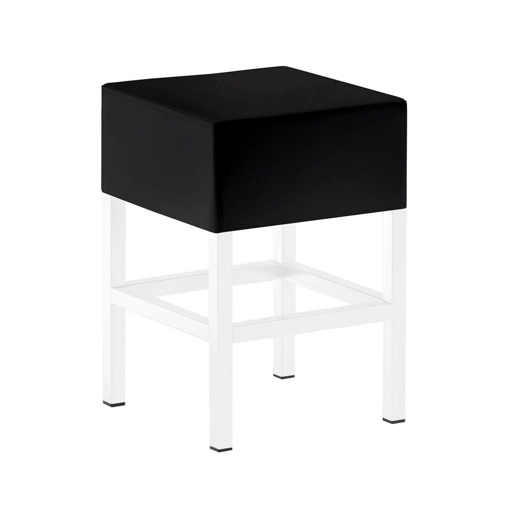cube 1403 tabouret bas pedrali en m tal hauteur assise 50 cm assise rembourr e en simili cuir. Black Bedroom Furniture Sets. Home Design Ideas