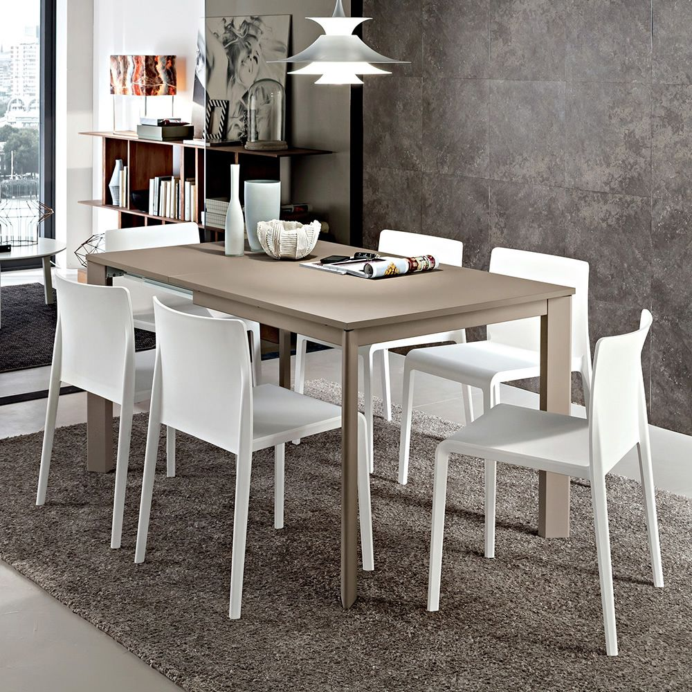 pa115 table extensible en aluminium ou bois plateau mesurant 90 x 90 cm disponible en. Black Bedroom Furniture Sets. Home Design Ideas