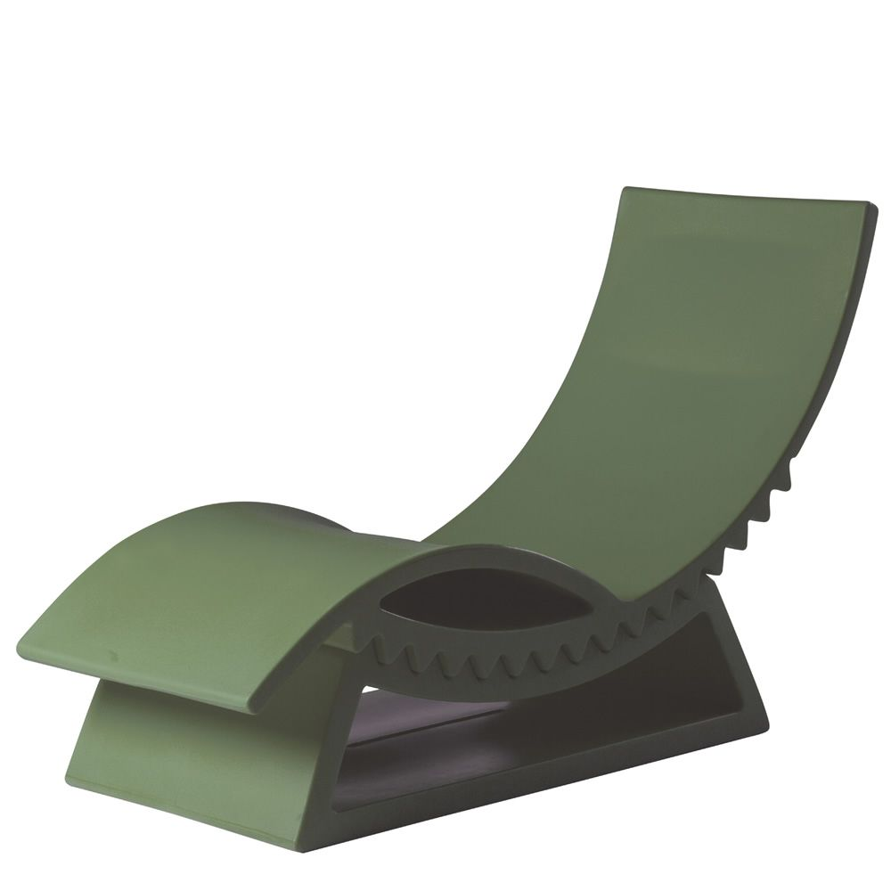 Tic tac slide polyethylene chaise longue with base of for Chaise longue originale