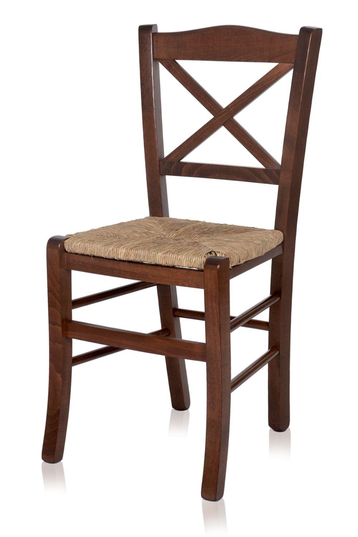 Mu83 chaise rustique en bois diff rentes teintes for Assise de chaise en paille